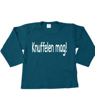 T-shirtje lange mouw Knuffelen mag!