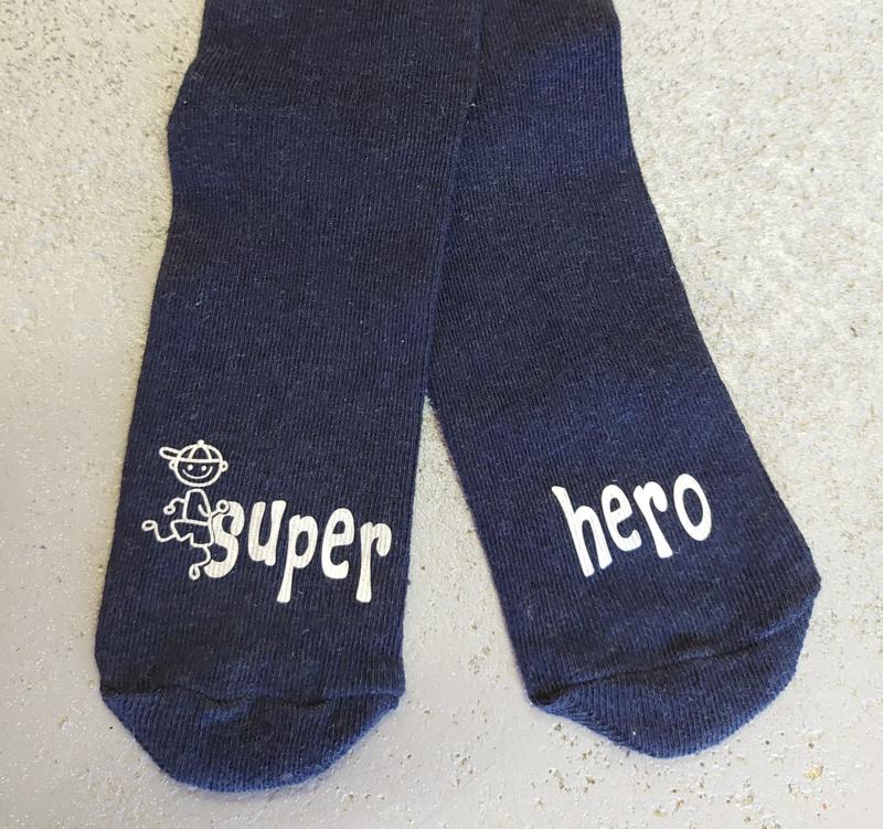 """Sokken voor kids """"super hero"""""""
