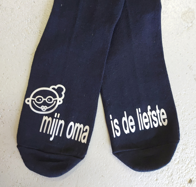 """Sokken voor kids """"mijn oma is de liefste"""""""