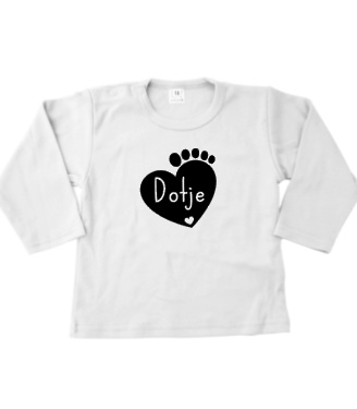T-shirtje lange mouw Dotje