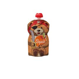 10x 1-pack Squiz herbruikbare knijpzakjes - 130 ml - Bear