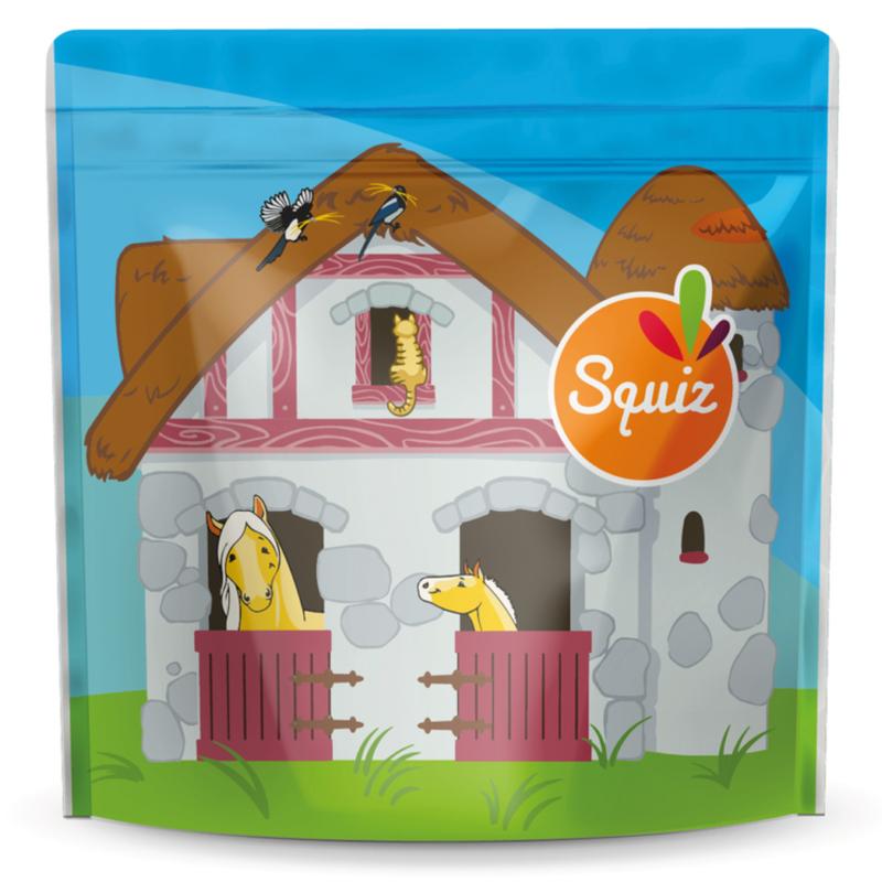 10x Multifunctionele snackzakjes | set met 3 maten | De boerderij collectie