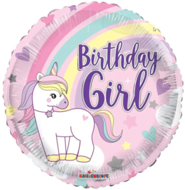 Folie Ballon Birthday Girl (leeg)