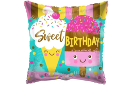 Folie Ballon Sweet Birthday (leeg)