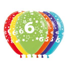 Latex Ballonnen Cijfer 6
