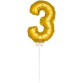 Folie Cijfer Goud 3 (leeg)