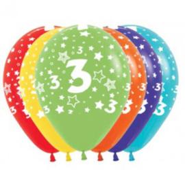 Latex Ballonnen Cijfer 3