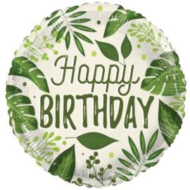 Folie Ballon Happy Birthday Eco (leeg)