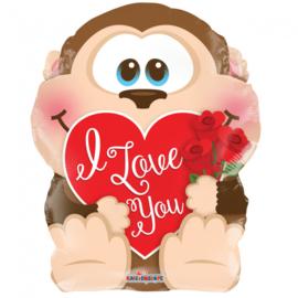 Folie Ballon Love Monkey (leeg)