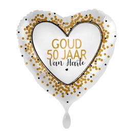 Folie Ballon Goud 50 jaar! (leeg)