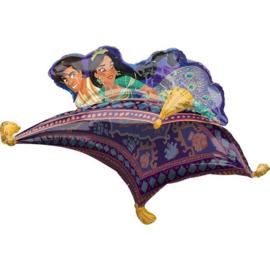 Folie ballon Aladdin & Jasmine Vliegend Tapijt (leeg)