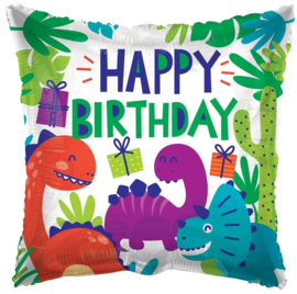 Folie Ballon Happy Birthday Dino (leeg)