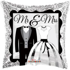 Folie Ballon Pillow MR & MRS (leeg)