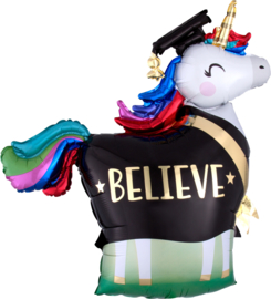 Folie Ballon Unicorn Geslaagd (leeg)