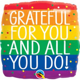 Folie Ballon Grateful For you And All You Do (leeg)
