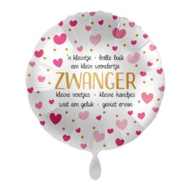 Folie Ballon Zwanger (leeg)
