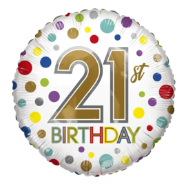 Folie Ballon 21th Birthday (leeg)