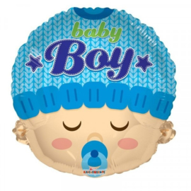 Folie Ballon Baby Boy Hoofd (leeg)