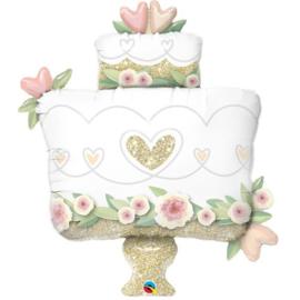 Folie ballon Wedding Cake (leeg)