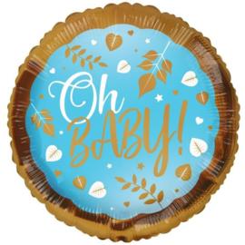 Folie Ballon Oh Baby! Blue (leeg)