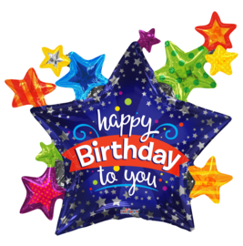 Folie Ballon Happy Birthday to You (leeg)