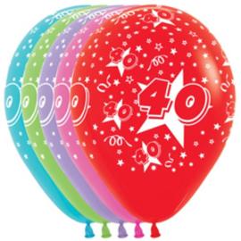 Latex Ballonnen Cijfer 40