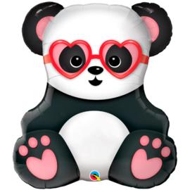 Folie Ballon Panda met Hartjes (leeg)