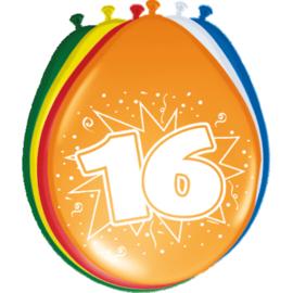 Latex Ballonnen 16 jaar