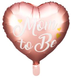 Folie Ballon Mom To Be Roze (leeg)