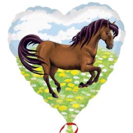 Folie ballon Paard hart (leeg)