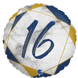 Folie Ballon Marble Mate 16 Blue (leeg)