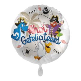 Folie Ballon Ahoy Gefeliciteerd! (leeg)