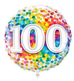 Folie ballon Rainbow Confetti - 100 (leeg)