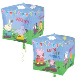 Folie ballon Peppa Pig Cubez (leeg)
