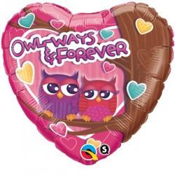 Folie Ballon Owl-Ways & Forever (leeg)