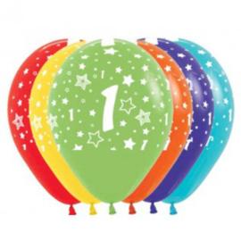Latex Ballonnen Cijfer 1