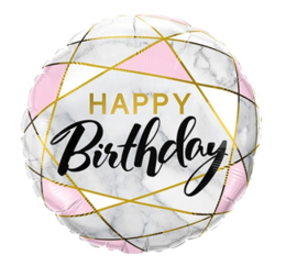 Folie ballon Birthday Marble Rectangles (leeg)