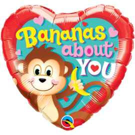 Folie Ballon Bananas About You (leeg)