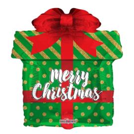 Folie Ballon Kerst Cadeau (leeg)