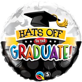 Folie Ballon Hats off to the Graduate! (leeg)