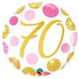 Folie Ballon Pink & Gold Dots - 70 (leeg)