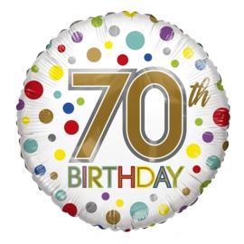 Folie Ballon 70th Birthday (leeg)