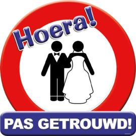 Huldeschild Pas getrouwd