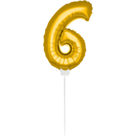 Folie Cijfer Goud 6 (leeg)