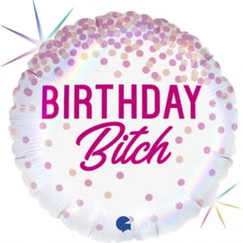 Folie Ballon Birthday Bitch (leeg)
