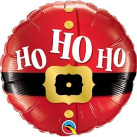 Folie Ballon Ho Ho Ho Kerst (leeg)