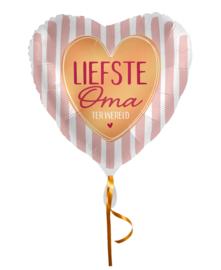 Folie Ballon Liefste Oma ter Wereld (leeg)