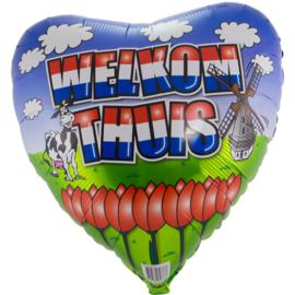 Folie Ballon Welkom Thuis Hart (leeg)