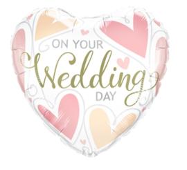 Folie ballon On your wedding day (leeg)