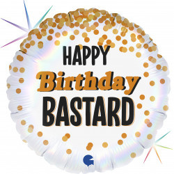 Folie Ballon Happy Birthday Bastard (leeg)